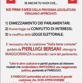 Politiche 2013: Tutti i partiti puntano al pareggio tranne il PD!