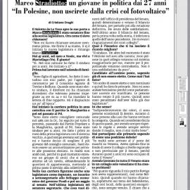 L'Intervista del Direttore della Voce di Rovigo Cristiano Draghi