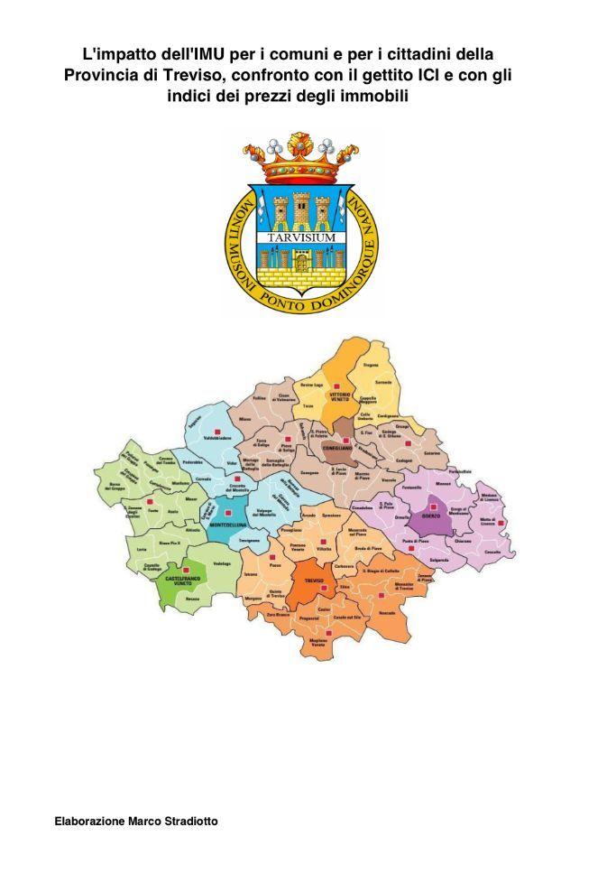 Il gettito IMU nei Comuni della Provincia di Treviso: confronto con il gettito ICI e con i valori OMI
