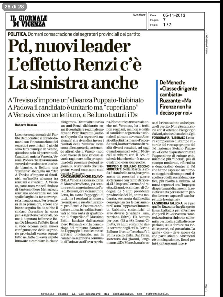 Rassegna Stampa 5/11/2013